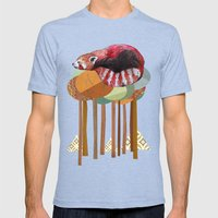 Red Panda Mens Fitted Tee Tri-Blue SMALL