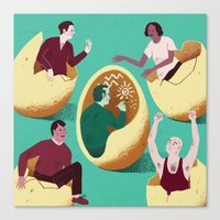 Introverts Canvas Print