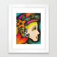 Nicole (Flower) Framed Art Print