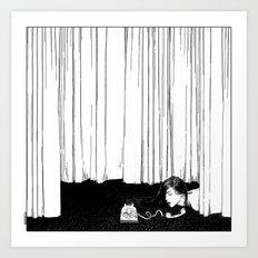 asc 536 - La mise en scène ( I'll be late tonight darling) Art Print