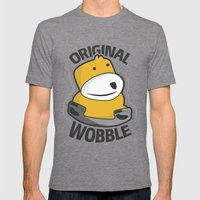 Original Wobble Mens Fitted Tee Tri-Grey SMALL
