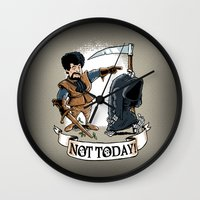 Not Today! Wall Clock