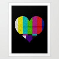 Heart TV Art Print