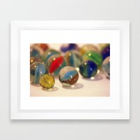 colored balls Framed Art Print