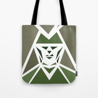 Five Triangle Faces - The Hunter Tote Bag