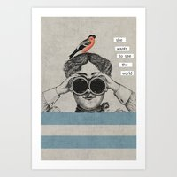 she wants to see the world Art Print