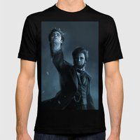 ABE THE HUNTER Mens Fitted Tee Black SMALL