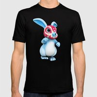 Lucha Rabbit-Blue Brothe… Mens Fitted Tee Black SMALL