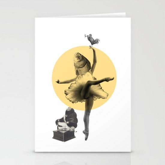 Ballerina Fish Stationery Card
