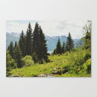 The Forest And The Fjord… Canvas Print