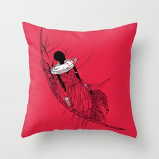 The Lioness Warrior Throw Pillow