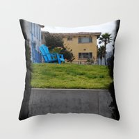 House On The Esplanade Throw Pillow