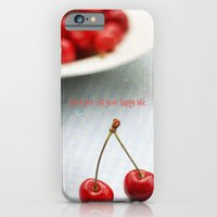 iPhone & iPod Case featuring Don't Put Off Your Happy Life by Christine Hall