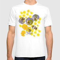 Flowering Mens Fitted Tee White SMALL