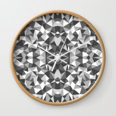 Abstract Colide Black and White Wall Clock