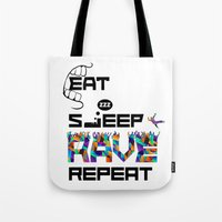 Eat Sleep RAVE Repeat Tote Bag
