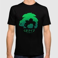 Mega Grass Mens Fitted Tee Black SMALL