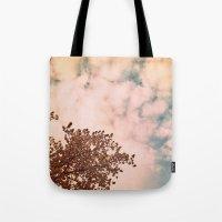Marshmallow sky Tote Bag