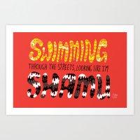 Shamu Art Print