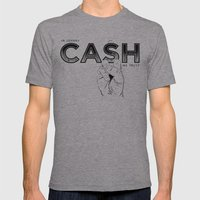 In Johnny Cash We Trust. Mens Fitted Tee Athletic Grey SMALL