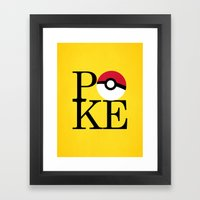 Poke Framed Art Print