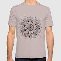Mandala Art, India, Geometric, Tribal Art, Black and white Mens Fitted Tee Cinder SMALL