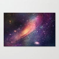Galaxy colorful Canvas Print