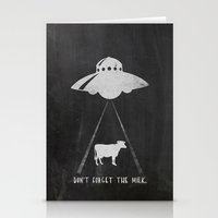 Don't forget the milk. Stationery Cards