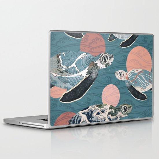 Sea Turtle Polka Laptop & iPad Skin