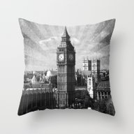 Throw Pillow featuring Vintage Big Ben by Rhianna Power
