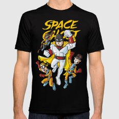 Space!!! SMALL Mens Fitted Tee Black