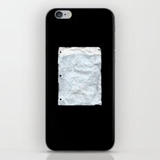 UNKNOWN PAPER iPhone & iPod Skin