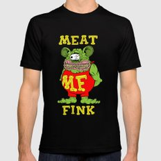 Meat Fink Mens Fitted Tee SMALL Black