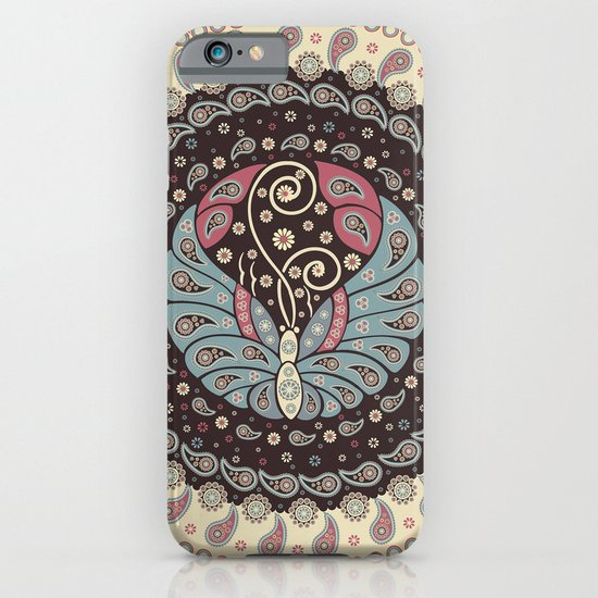 Butterfly Mandala iPhone & iPod Case