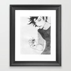 Gaki - Sumi-e Framed Art Print