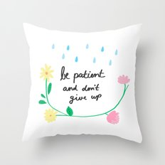 Motivational thoughts Throw Pillow