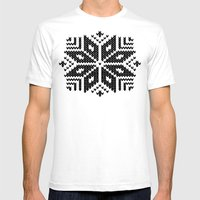 knit flake Mens Fitted Tee White SMALL