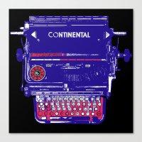 continental typewriter square Canvas Print