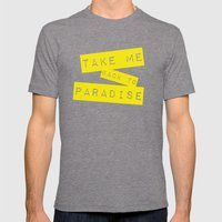 OCEAN Mens Fitted Tee Tri-Grey SMALL