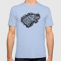 The North Remembers Mens Fitted Tee Tri-Blue SMALL
