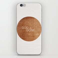 God is gone iPhone & iPod Skin