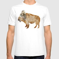 buffalo Mens Fitted Tee White SMALL