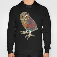 little brother owl chartreuse dot Hoody