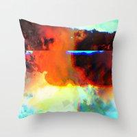23-03-44 (Cloud Glitch) Throw Pillow