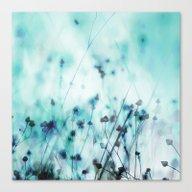 Canvas Print featuring Blue by Mareike Böhmer Grap…