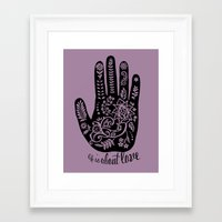 Life And Love Framed Art Print