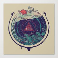 Canvas Print featuring Water by Hector Mansilla