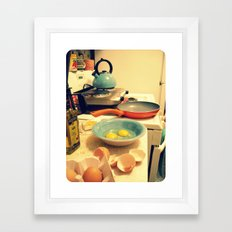 Sunday Morning Breakfast Framed Art Print