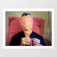 Tv Head Art Print