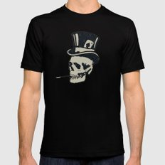 Victorian Pattern 3 SMALL Mens Fitted Tee Black